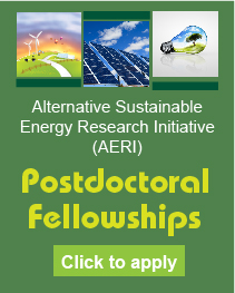 Alternative Sustainable Energy Research Initiative (AERI), Postdoctoral Fellowships