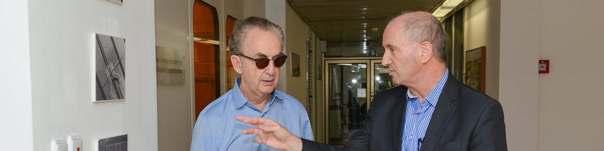 Gerry Schwartz with the president of Weizmann Institution of Science, Prof. Daniel Zajfman, May 2016
