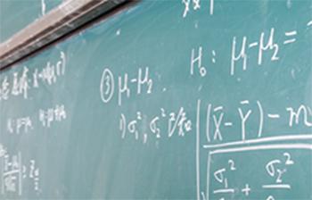 black board with formulas