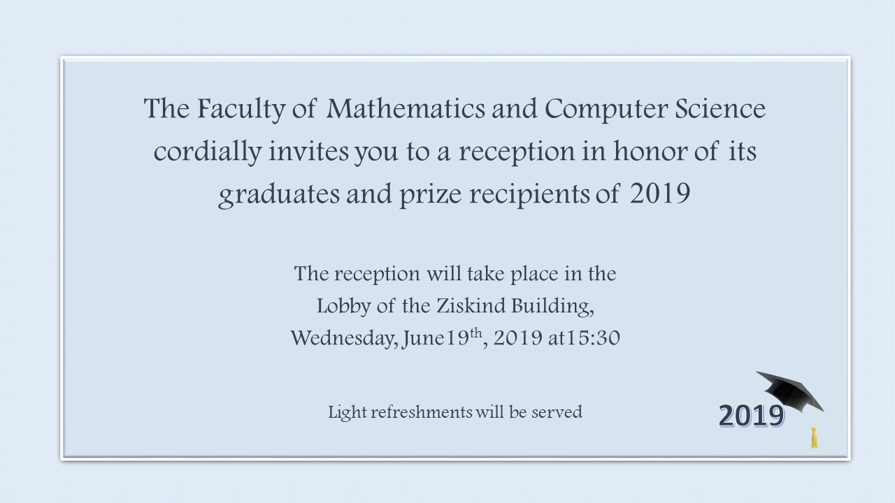 Previous Events | The Faculty of Mathematics and Computer