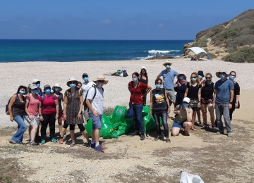 Volunteers day - cleaning Palmachim beach, July 2020 picture no. 16