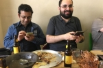Ethiopian restaurant lunch - farewell to Christin - 2016 picture no. 8