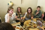 Ethiopian restaurant lunch - farewell to Christin - 2016 picture no. 2
