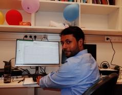 Saurav at work