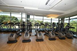 The David Moros Fitness Center at the Dwek Campus Center in Jubilee Plaza