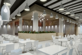 Ebner Hall Renovation and Addition of a New Restaurant Floor