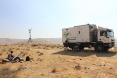The Mobile Lab -Yatir desert June 2011 picture no. 3