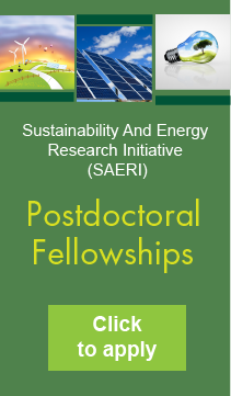 Sustainability and Energy Research Initiative (SAERI), Postdoctoral Fellowships