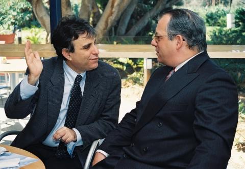 L to R: Prof. Yair Reisner and Bob Drake