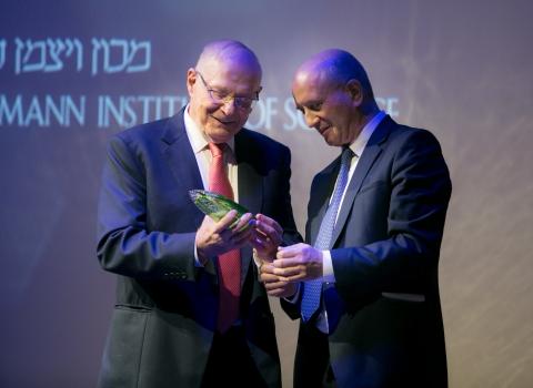 Former Chair Abraham Ben-Naftali with President Prof. Daniel Zajfman