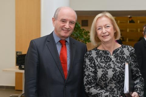 Prof. Daniel Zajfman with Prof. Dr. Johanna Wanka