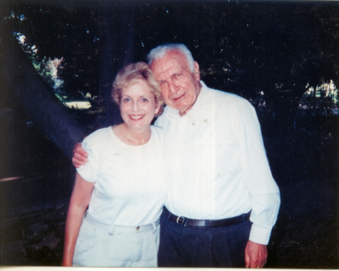 Dr. Merry Sherman with the late Prof. Ephraim Katzir
