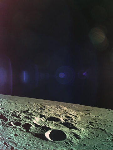 As Beresheet descended, it snapped this picture of the Moon's surface at a distance of 15 km