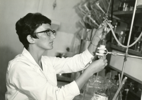 Dr. Zwillenberg-Fridman as a young scientist in the lab of the late Prof. Nathan sharon