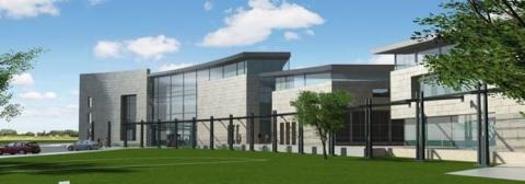 Architectural rendering of the new Schwartz-Reisman Center in Rehovot
