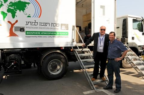 Prof. Dan Yakir (right) with Robert Lewis