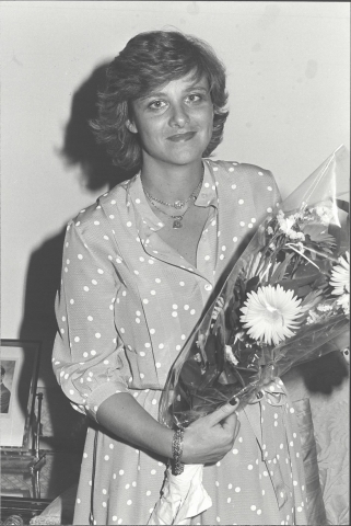 Dame Vivien Clore Duffield at the inauguration of the Clore Prize, 1981