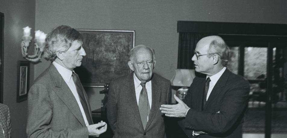 L to R: Prof. Michael Sela, Dr. Josef Cohn , Hans-Hilger Haunschild