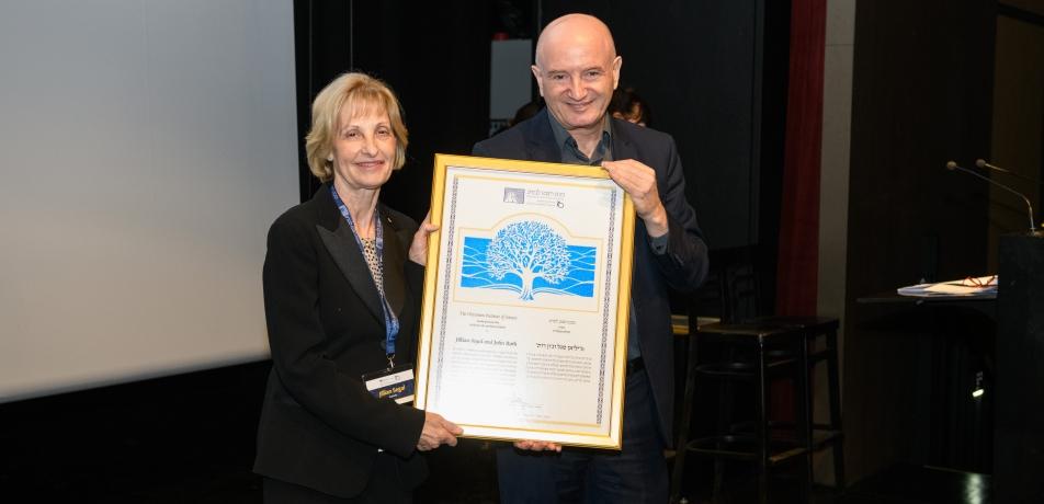 Jillian Segal and Prof. Daniel Zajfman