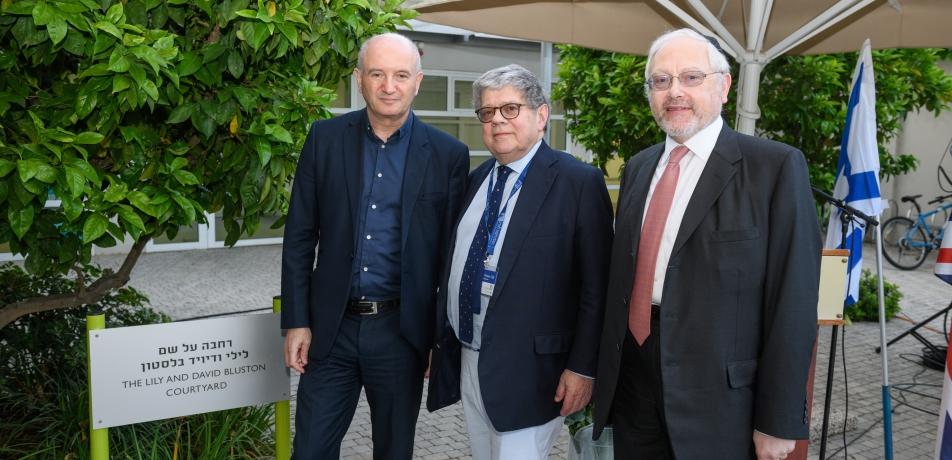 L-R: Professor Daniel Zajfman, Martin Paisner CBE and Daniel Dover