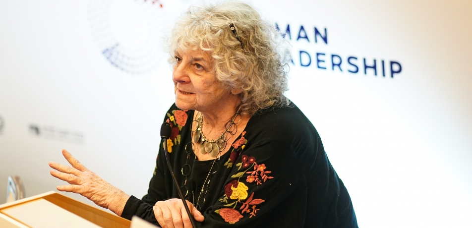 Prof. Ada Yonath, the keynote speaker at the Zuckerman Symposium