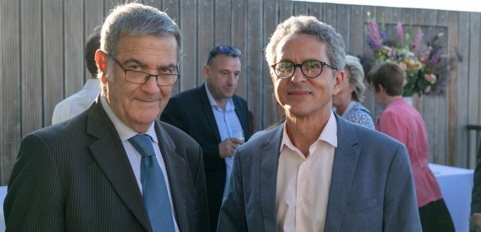 L-R: Prof. Serge Haroche and Prof. Victor Malka
