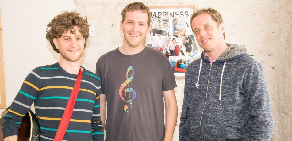 L-R: Yigal Kaminka, Yuval Kaminka, and Roey Izkovsky.