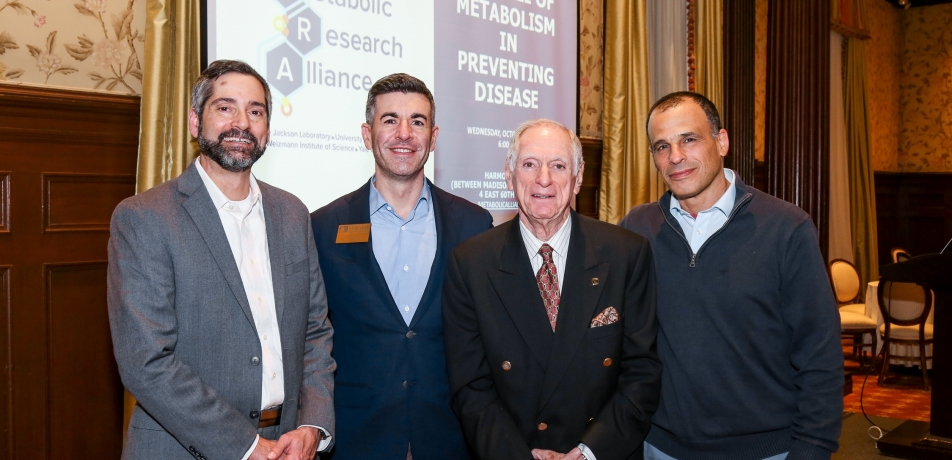 (L-R) Prof. Anthony T. Vella, Dave Doneson, Edmund A. Grossman, and Prof. Atan Gross.