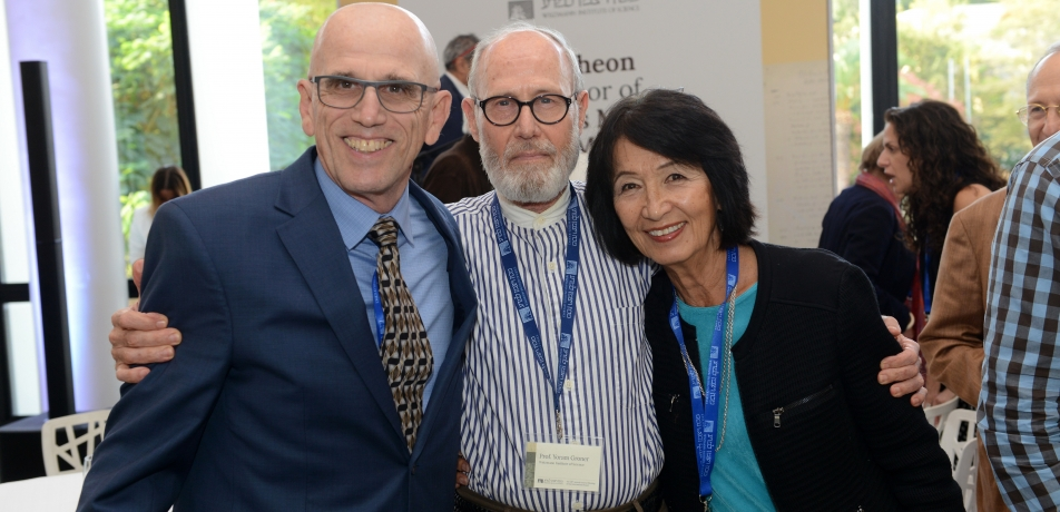 (L-R): Larry Marks, Prof. Yoram Groner, and Gladys Monroy