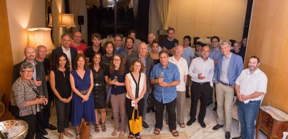 NKI and Weizmann Institute participants at the farewell dinner, Wolfson House