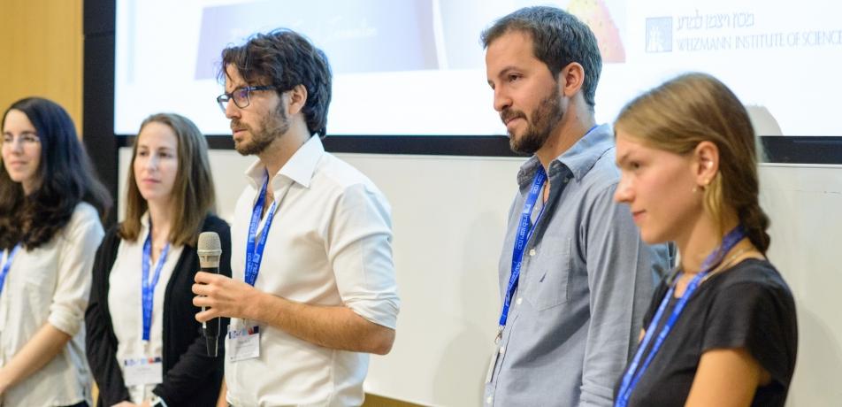 (L-R) PhD students Heli Ben Hamu, Lior Pinkus, Omer Karin, Rafael Stern, and Julie Laffy.