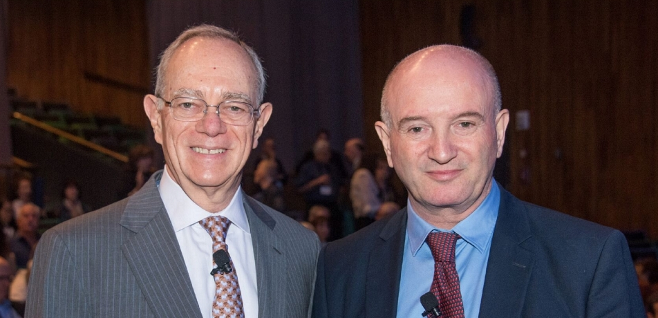 Prof. Rafael Reif (left) and Prof. Daniel Zajfman