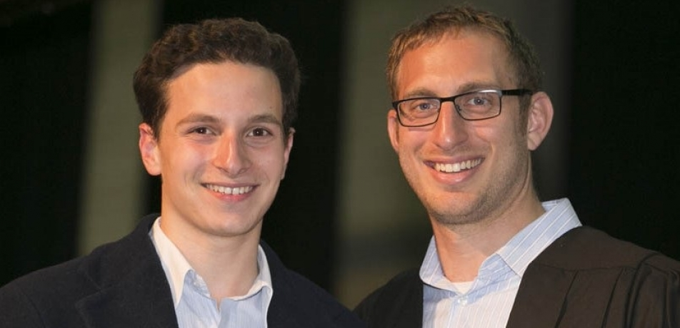 L to R: Sam Lees with Moriah College Dean of Jewish Life and Learning Rabbi Benji Levy
