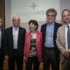Pictured from left to right: Dany Schmit, CEO for External Relations for Latin America; Weizmann Institute President Prof. Daniel Zajfman; Dr. Silvia Gold, President of Mundo Sano; Dr. Hugo Sigman, CEO of Grupo Insud; and Israel Ambassador to Argentina, Ilan Sztulman. Credit: Ricardo Ceppi