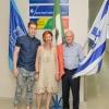 L to R: Jose Harari (a grandson), Sarah Uziel, and Rolando Uziel