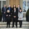 (L-R) Jean-Marc Brunschwig, Prof. Daniel Zajfman, Sylvie Brunschwig, Mr. Eric Stupp. Second row: Prof. Ada Yonath, Mr. Zohar Menshes, Mrs. Danielle Stupp. (Credit: Pierre Abensur)