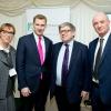Sheridan Gould of Weizmann UK, Chris Philip MP, Martin Paisner (Chair of Weizmann UK), and Prof. Daniel Zajfman