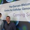 Professor Christopher Goodnow (Garvan), L, and Professor Ido Amit (Weizmann Institute), R.