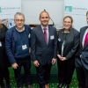 Pictured (L-R): Lydia Wood of Weizmann UK, Prof. Benny Chain, Piran Mazaheri, Sheridan Gould of Weizmann UK, Chris Philp MP
