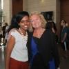 Sparks administrator Freihut Belay-Tadela and Hana Pergament