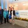 Picture caption: The dedication of The Azrieli National Institute for Human Brain Imaging and Research, with Sharon Azrieli, Prof. Daniel Zajfman, Stephanie Azrieli, Naomi Azrieli, and Susan Stern