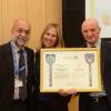 (L-R) Prof. Israel Bar-Josef, Shawna Goodman Stone, Prof. Daniel Zajfman.