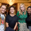 British musician Jamie Cullum and author Sophie Dahl, flanked by members of the Hamilton cast.