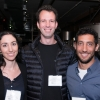 L to R: Students Ravit Netzer, Eran Kotler, and Ziv Zwighaft at City Winery in New York City.