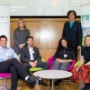 L to R: Dr. Roi Avraham, Weizmann UK Executive Director Sheridan Gould, Dr. Moshe Biton, Prof. Karina Yaniv, Prof. Alan Dangour, and Weizmann UK Chair Arabella Duffield