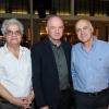 (L-R) Prof. Yadin Dudai, Prof. Daniel Zajfman, and former Shin Bet chief Yoram Cohen.