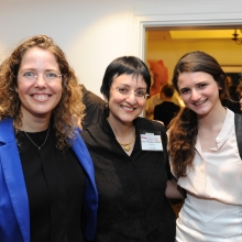 Prof. Nirit Dudovich with Robin Chemers Neustein and her daughter.