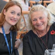 (L-R) Dr. Merav Parter and Dame Vivien Duffield