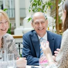 Dr. Judy and David Dangoor at the Global Gathering in London in June