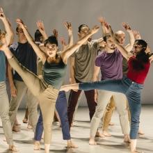 The Batsheva Dance Company performs at the Suzanne Dellal Center.